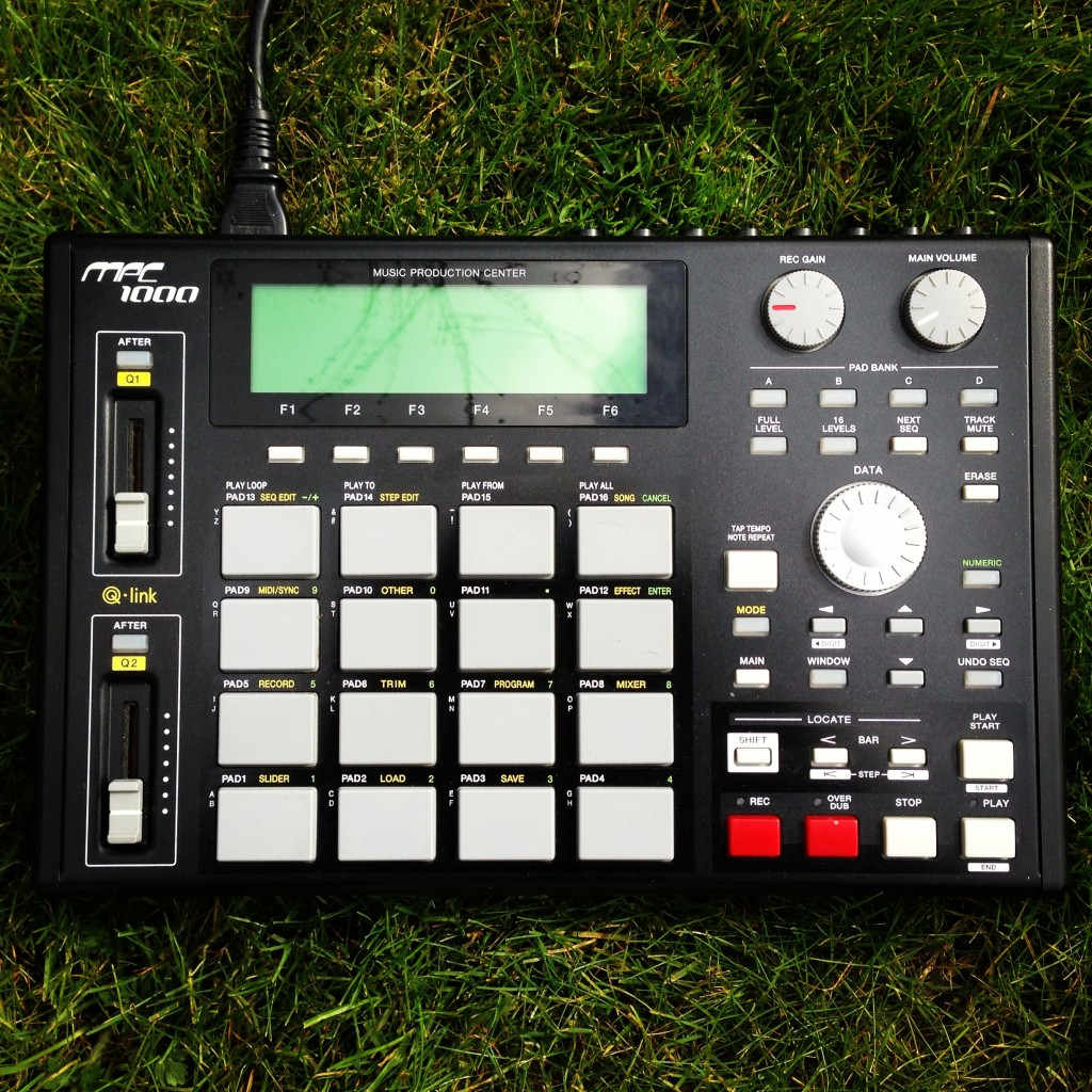 Akai MPC 1000 on grass